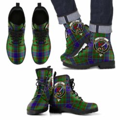 Clan Badge Leather Boots